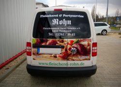 Werbung / Folierung / Wrapping VOLKSWAGEN Caddy für Handwerker Fleischerei Rohn