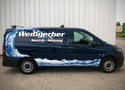 Werbung / Folierung / Wrapping Mercedes Vito für Handwerker